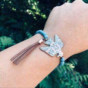 Turquoise Phoenix Bird Stretch Bracelet